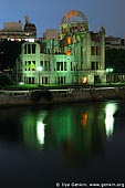 japan stock photography | Atomic Bomb Dome at Dusk, Hiroshima, Honshu, Japan, Image ID JPHI0010.