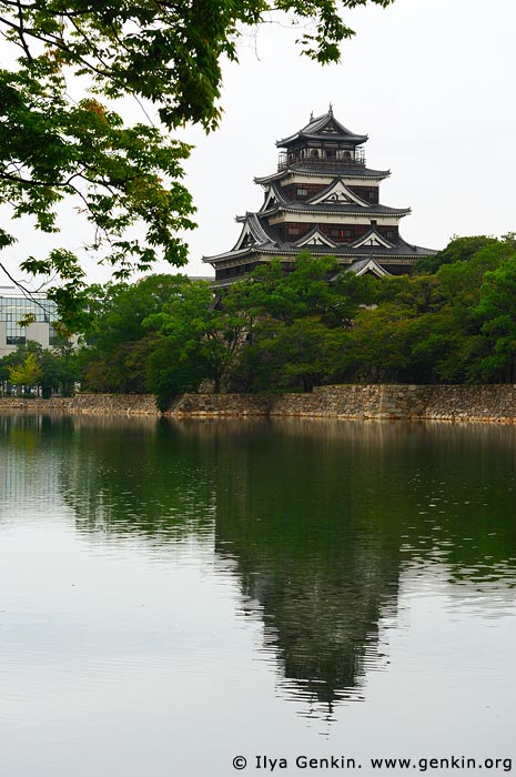 japan stock photography | Hiroshima Castle, Hiroshima, Honshu, Japan, Image ID JPHI0011