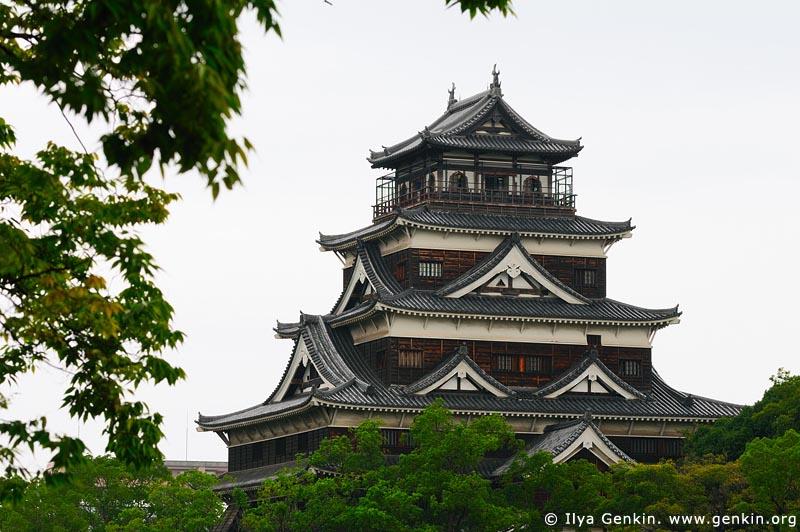 japan stock photography | Hiroshima Castle, Hiroshima, Honshu, Japan, Image ID JPHI0012