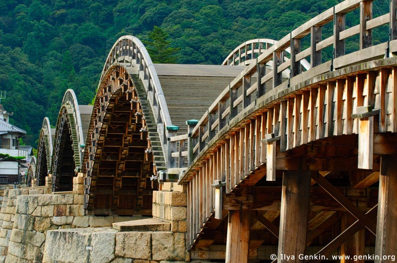 japan stock photography | Kintai-kyo (Kintai Bridge), Iwakuni, Honshu, Japan, Image ID JPIW0003