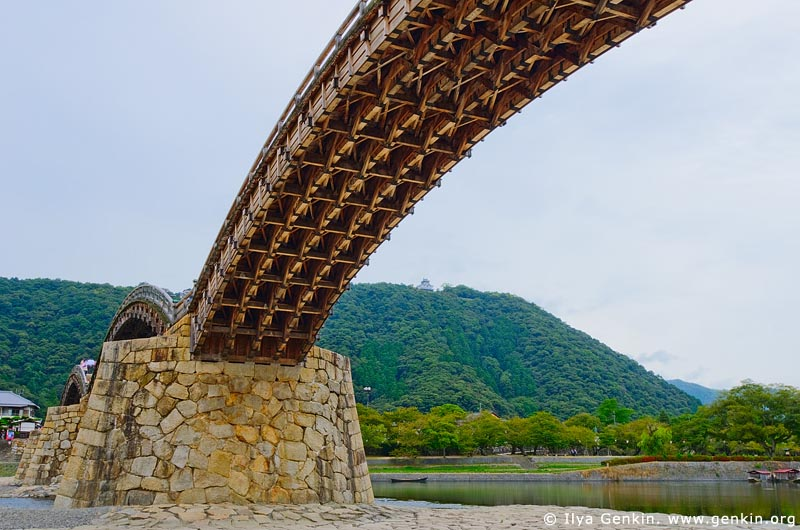 japan stock photography | Kintai-kyo (Kintai Bridge), Iwakuni, Honshu, Japan, Image ID JPIW0008