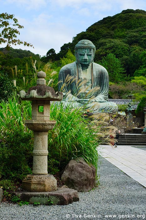 japan stock photography | The Great Buddha (Daibutsu) of Kamakura, Kotoku-in Temple, Kamakura, Honshu, Japan, Image ID JP-KAMAKURA-0001