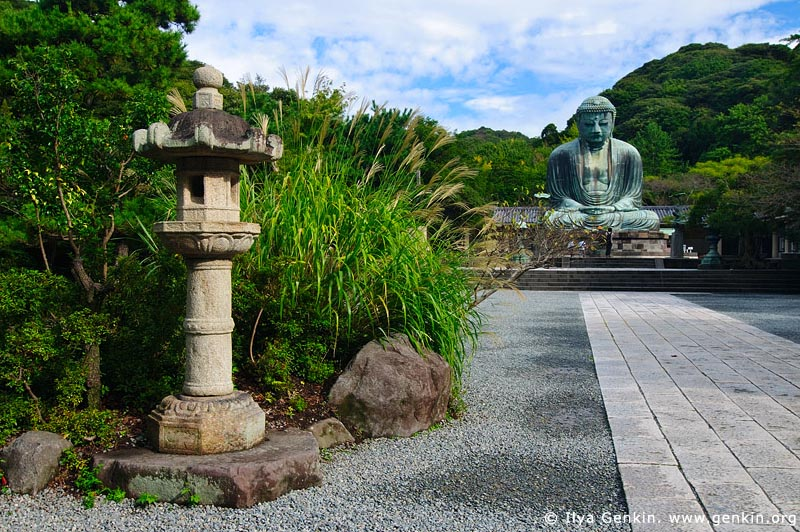 japan stock photography | The Great Buddha (Daibutsu) of Kamakura, Kotoku-in Temple, Kamakura, Honshu, Japan, Image ID JP-KAMAKURA-0002
