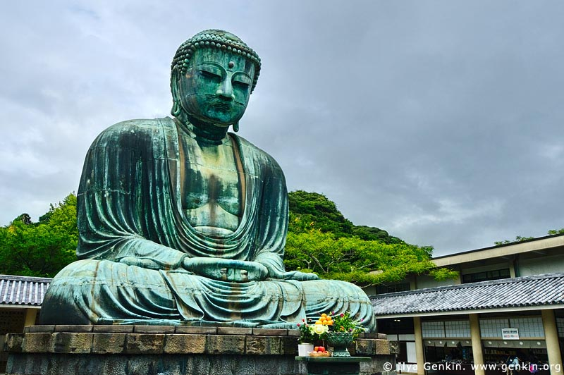 japan stock photography | The Great Buddha (Daibutsu) of Kamakura, Kotoku-in Temple, Kamakura, Honshu, Japan, Image ID JP-KAMAKURA-0008