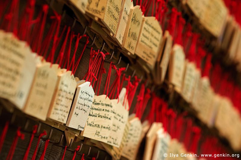 japan stock photography | Ema, Prayer Tablets, at Kaikozan Hase-dera Temple, Kaikozan Hase-dera Temple, Kamakura, Honshu, Japan, Image ID JP-KAMAKURA-0016