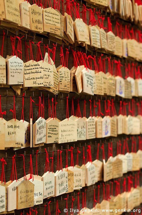 japan stock photography | Ema, Prayer Tablets, at Kaikozan Hase-dera Temple, Kaikozan Hase-dera Temple, Kamakura, Honshu, Japan, Image ID JP-KAMAKURA-0019