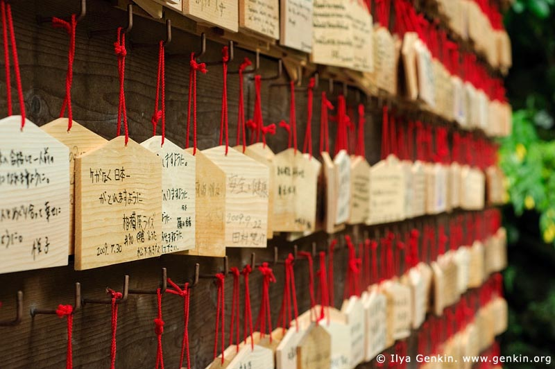 japan stock photography | Ema, Prayer Tablets, at Kaikozan Hase-dera Temple, Kaikozan Hase-dera Temple, Kamakura, Honshu, Japan, Image ID JP-KAMAKURA-0026