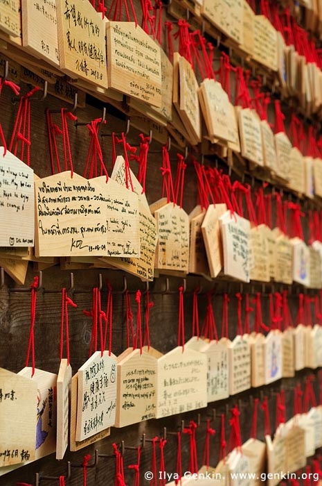 japan stock photography | Ema, Prayer Tablets, at Kaikozan Hase-dera Temple, Kaikozan Hase-dera Temple, Kamakura, Honshu, Japan, Image ID JP-KAMAKURA-0029