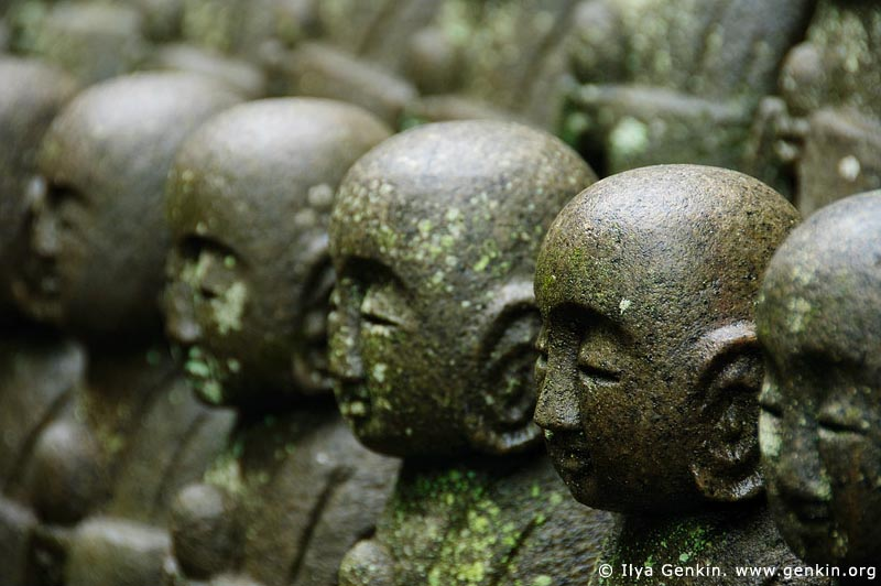 japan stock photography | 1000 Statues of Jizo, Kaikozan Hase-dera Temple, Kaikozan Hase-dera Temple, Kamakura, Honshu, Japan, Image ID JP-KAMAKURA-0038