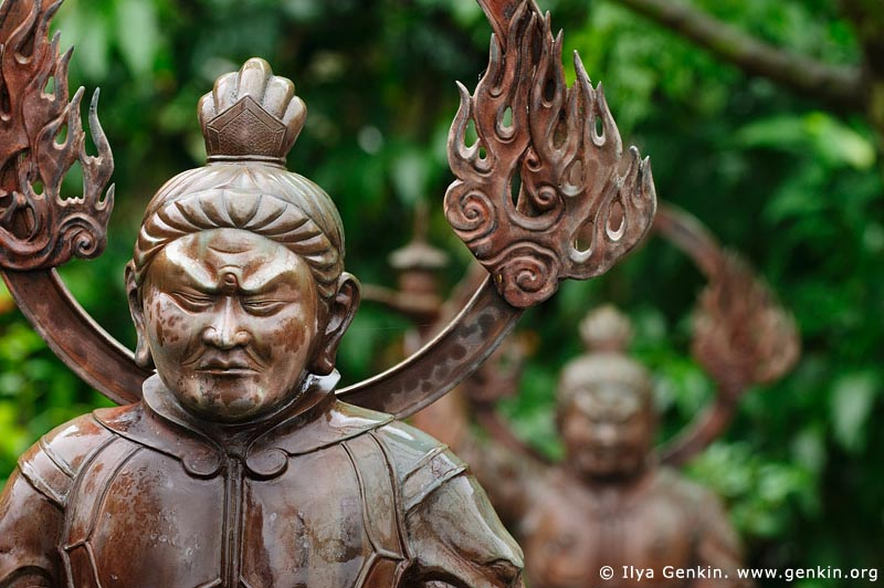 japan stock photography | Bronze Statue at Kaikozan Hase-dera Temple, Guardian of the Nation (Jikokuten), Kaikozan Hase-dera Temple, Kamakura, Honshu, Japan, Image ID JP-KAMAKURA-0051