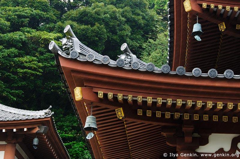 japan stock photography   Roof of the Kannon-do Hall at Kaikozan Hase-dera Temple, Kaikozan Hase-dera Temple, Kamakura, Honshu, Japan, Image ID JP-KAMAKURA-0054