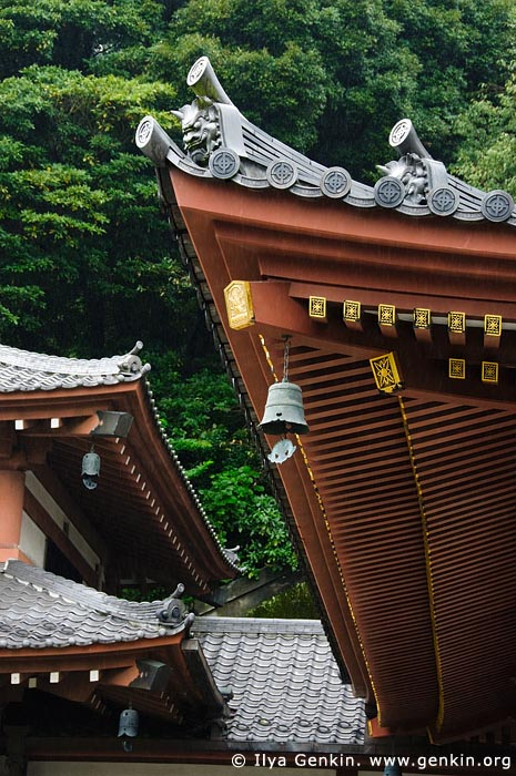 japan stock photography | Roof of the Kannon-do Hall at Kaikozan Hase-dera Temple, Kaikozan Hase-dera Temple, Kamakura, Honshu, Japan, Image ID JP-KAMAKURA-0055