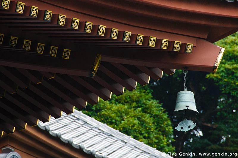 japan stock photography | Roof of the Kannon-do Hall at Kaikozan Hase-dera Temple, Kaikozan Hase-dera Temple, Kamakura, Honshu, Japan, Image ID JP-KAMAKURA-0057