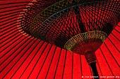 japan stock photography | Red Parasol at Kaikozan Hase-dera Temple, Kaikozan Hase-dera Temple, Kamakura, Honshu, Japan, Image ID JP-KAMAKURA-0061.