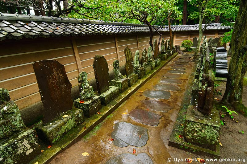 japan stock photography | Stone Sculptures at Engaku-ji Temple in Kamakura, Engaku-ji Temple, Kamakura, Honshu, Japan, Image ID JP-KAMAKURA-0075