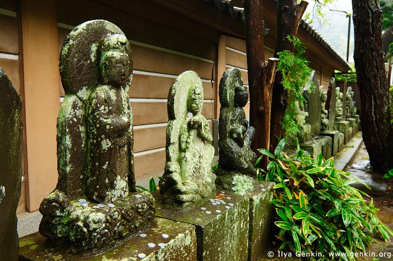 japan stock photography | Stone Sculptures at Engaku-ji Temple in Kamakura, Engaku-ji Temple, Kamakura, Honshu, Japan, Image ID JP-KAMAKURA-0079