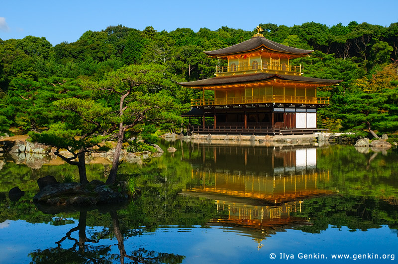 japan stock photography | Kinkakuji - Golden Pavilion, Kyoto, Kansai, Honshu, Japan