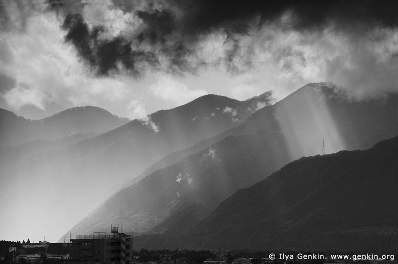 japan stock photography | Clearing Storm Over Matsumoto, Matsumoto, Nagano Prefecture, Chubu region, Honshu Island, Japan, Image ID JP-MATSUMOTO-0002