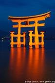 japan stock photography | O-Torii (Grand Gate) at Dusk, Itsukushima Shrine, Miyajima, Honshu, Japan, Image ID JPMI0006.