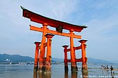 japan stock photography | O-Torii (Grand Gate) at Low Tide, Itsukushima Shrine, Miyajima, Honshu, Japan, Image ID JPMI0022.