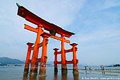 japan stock photography | O-Torii (Grand Gate) at Low Tide, Itsukushima Shrine, Miyajima, Honshu, Japan, Image ID JPMI0023.
