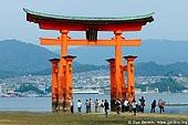japan stock photography | O-Torii (Grand Gate) at Low Tide, Itsukushima Shrine, Miyajima, Honshu, Japan, Image ID JPMI0024.