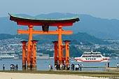 japan stock photography | O-Torii (Grand Gate) at Low Tide, Itsukushima Shrine, Miyajima, Honshu, Japan, Image ID JPMI0025.