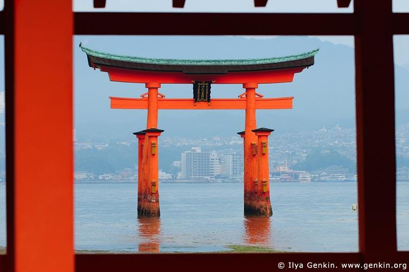 japan stock photography   O-Torii (Grand Gate), Itsukushima Shrine, Miyajima, Honshu, Japan, Image ID JPMI0027
