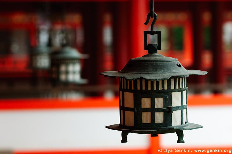 japan stock photography | Lanterns at Itsukushima Shrine, Miyajima, Honshu, Japan, Image ID JPMI0029