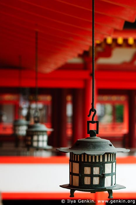 japan stock photography | Lanterns at Itsukushima Shrine, Miyajima, Honshu, Japan, Image ID JPMI0030