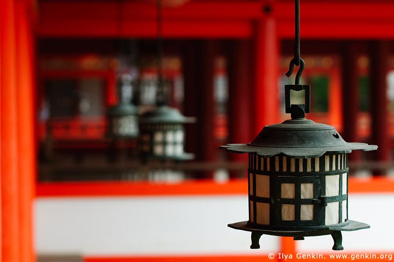 japan stock photography | Lanterns at Itsukushima Shrine, Miyajima, Honshu, Japan, Image ID JPMI0031