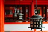 japan stock photography | Lanterns at Itsukushima Shrine, Miyajima, Honshu, Japan, Image ID JPMI0031.