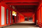 japan stock photography | A Long Corridor Stretches Through the Itsukushima Shrine, Itsukushima Shrine, Miyajima, Honshu, Japan, Image ID JPMI0032.