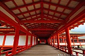 japan stock photography | A Long Corridor Stretches Through the Itsukushima Shrine, Itsukushima Shrine, Miyajima, Honshu, Japan, Image ID JPMI0033.