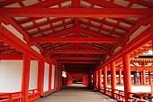 japan stock photography | A Long Corridor Stretches Through the Itsukushima Shrine, Itsukushima Shrine, Miyajima, Honshu, Japan, Image ID JPMI0034.