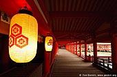 japan stock photography | A Long Corridor Stretches Through the Itsukushima Shrine, Itsukushima Shrine, Miyajima, Honshu, Japan, Image ID JPMI0036.