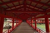 japan stock photography | A Long Corridor Stretches Through the Itsukushima Shrine, Itsukushima Shrine, Miyajima, Honshu, Japan, Image ID JPMI0037.