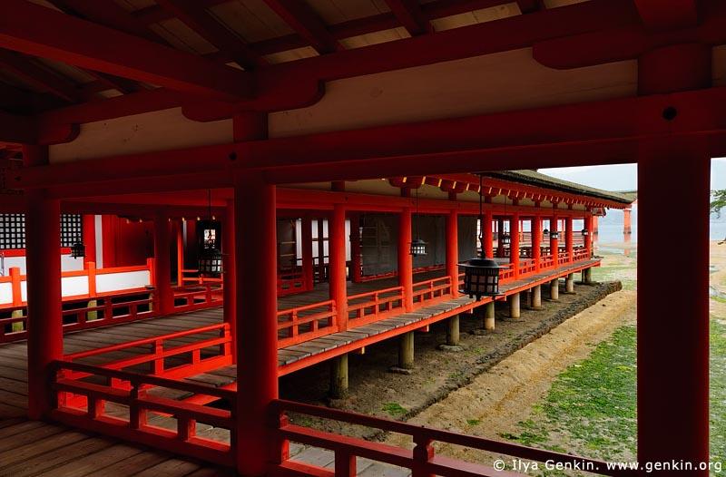 japan stock photography   Corridors at Itsukushima Shrine, Itsukushima Shrine, Miyajima, Honshu, Japan, Image ID JPMI0038