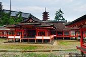 japan stock photography | Itsukushima Shrine, Goju-no-to (Five-Storied Pagoda) and Senjokaku (One Thousand Tatami Hall), Miyajima, Honshu, Japan, Image ID JPMI0039.