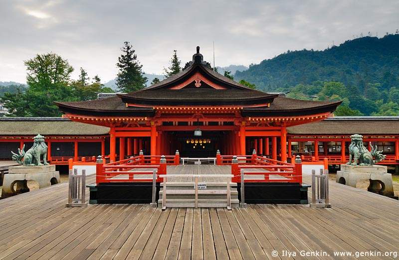 japan stock photography | Taka-Butai (High Stage), Itsukushima Shrine, Miyajima, Honshu, Japan, Image ID JPMI0040