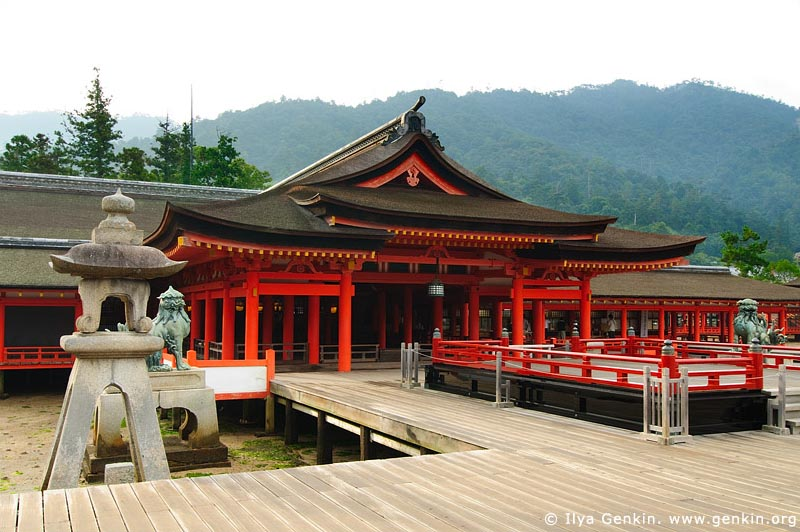 japan stock photography | Taka-Butai (High Stage), Itsukushima Shrine, Miyajima, Honshu, Japan, Image ID JPMI0042