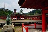 japan stock photography | Itsukushima Shrine, Goju-no-to (Five-Storied Pagoda) and Senjokaku (One Thousand Tatami Hall), Miyajima, Honshu, Japan, Image ID JPMI0045.