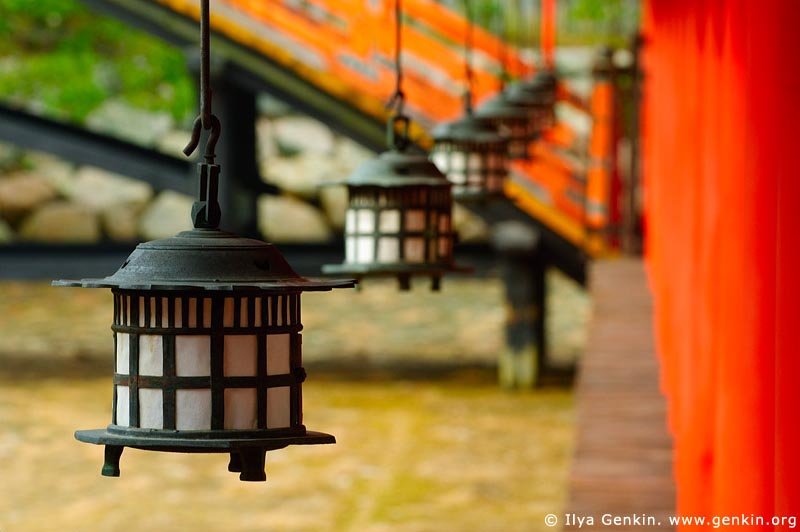 japan stock photography | Lanterns at Itsukushima Shrine, Miyajima, Honshu, Japan, Image ID JPMI0048