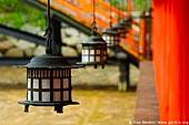 japan stock photography | Lanterns at Itsukushima Shrine, Miyajima, Honshu, Japan, Image ID JPMI0048.