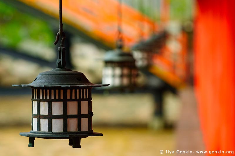 japan stock photography | Lanterns at Itsukushima Shrine, Miyajima, Honshu, Japan, Image ID JPMI0049