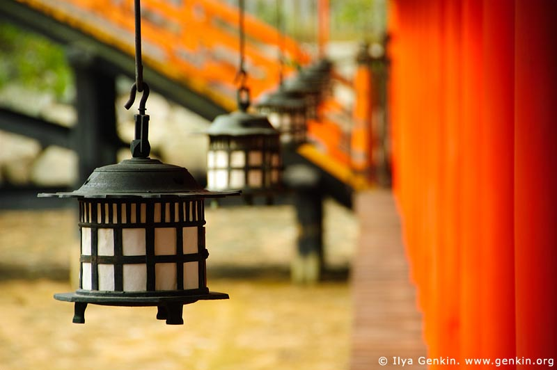 japan stock photography | Lanterns at Itsukushima Shrine, Miyajima, Honshu, Japan, Image ID JPMI0050