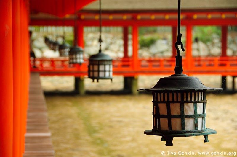 japan stock photography | Lanterns at Itsukushima Shrine, Miyajima, Honshu, Japan, Image ID JPMI0051