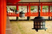 japan stock photography | Lanterns at Itsukushima Shrine, Miyajima, Honshu, Japan, Image ID JPMI0051.
