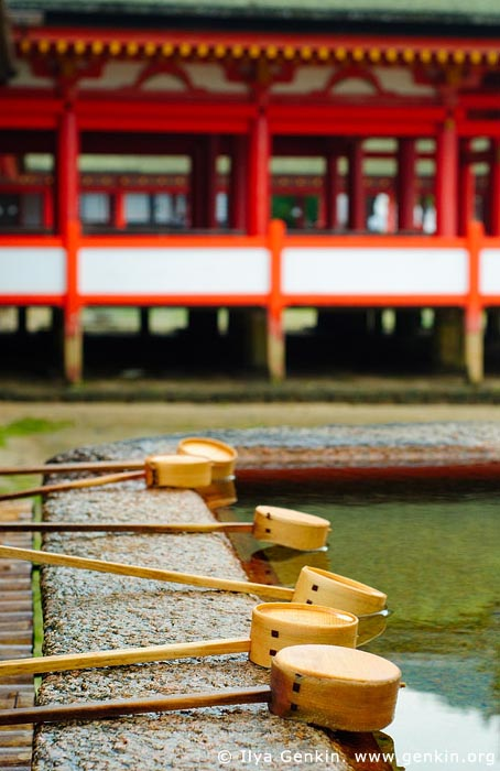 japan stock photography | Chozu-bachi at Itsukushima Shrine, Miyajima, Honshu, Japan, Image ID JPMI0055