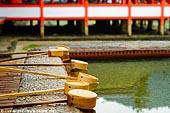 japan stock photography | Chozu-bachi at Itsukushima Shrine, Miyajima, Honshu, Japan, Image ID JPMI0056.